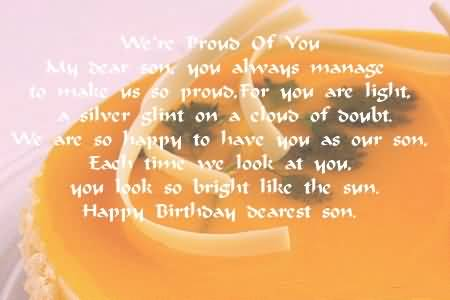 Cool Birthday Poems For My Dearest Son