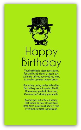 Funny Birthday Poems For Friend