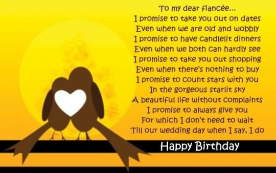 Lovely Birthday Poems For Fiancee