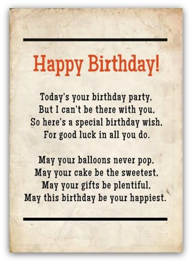 Mind Blowing Birthday Poems For Friends