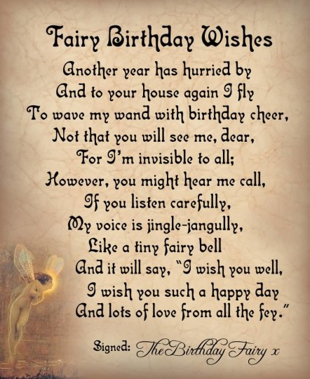 Nice Birthday Poems For Fairy