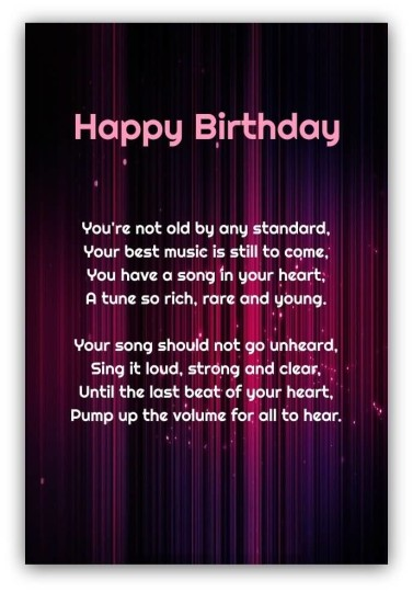 Nice Birthday Poems For Friend