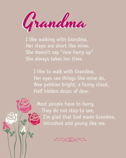 Nice birthday poems for grandmother nicewishes for What to get grandma for her birthday