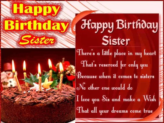 Nice Birthday Quotes For Sister Image