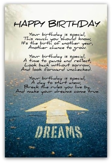Special Birthday Poems For Friend