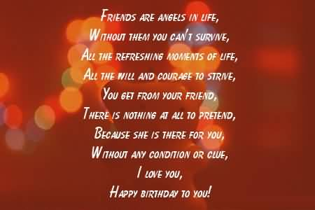 Superb Birthday Poems For Friends
