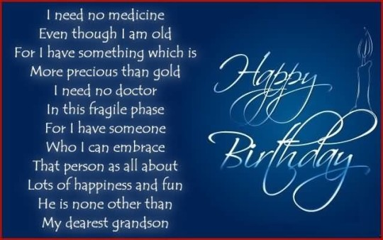 Unique Birthday Poems For Sweet Grandson