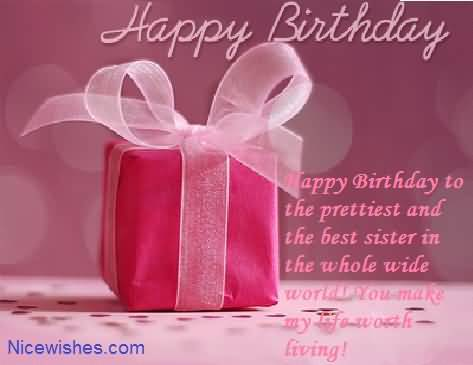 Unique Birthday Quotes For Dear Sister ECard NiceWishes – Birthday Greetings to a Sister Quotes
