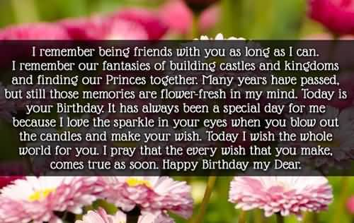 Unique Image Birthday Wishes For Facebook Friend
