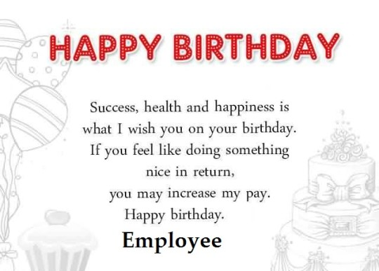Amazing Birthday Wishes For Employee Graphic