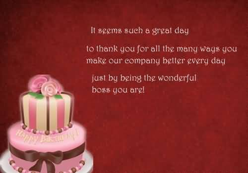 Amazing Birthday Wishes For Employer E-Card