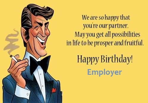 Awesome Big Smile Birthday Wishes For Employer Scrap