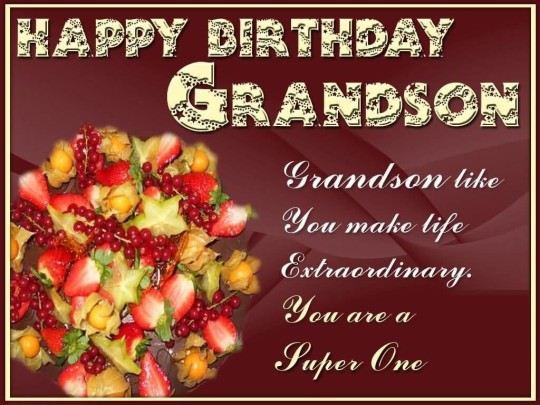 Awesome Birthday Quotes For Grandson