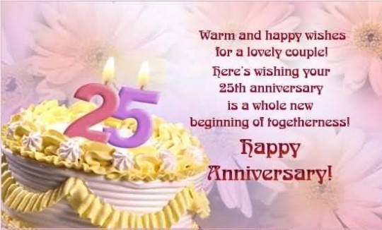 Awesome Greetings 25th Anniversary Wishes For Parents Nice