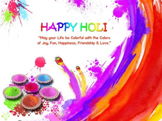Awesome Wish You A Happy Holi Wallpaper