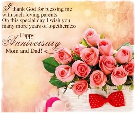 Beautiful Greetings Anniversary Wishes For Loving Parents