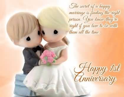 Best e card st anniversary wishes for wife nicewishes