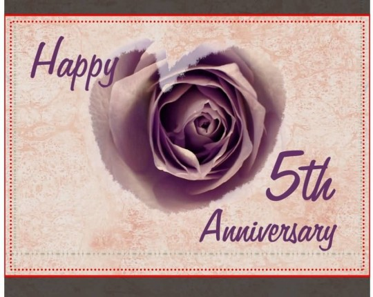 Best E-Card 5th Anniversary Wishes For Friends`