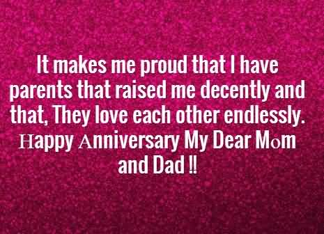 Best Message Anniversary Wishes For Parents Graphic