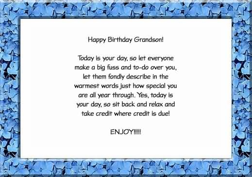 Brilliant Birthday Quotes For Grandson