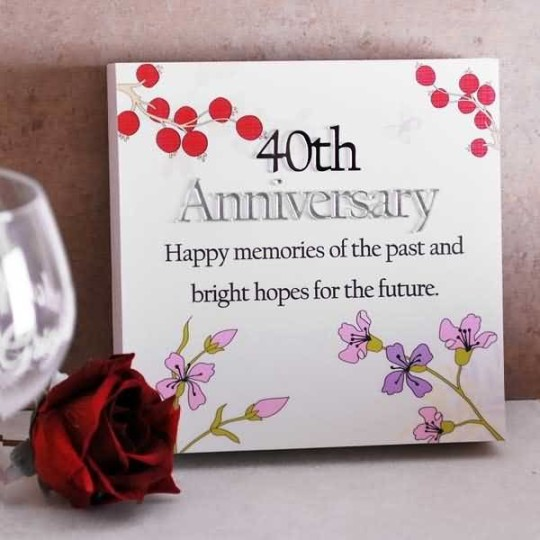 40th Wedding Anniversary Gifts For Mum And Dad : greetings 25th anniversary wishes for cool parents best anniversary ...