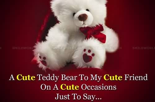 Cool Happy Teddy Day Cute Image