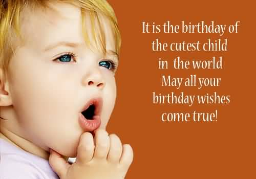 Cute Birthday Quotes For Kids