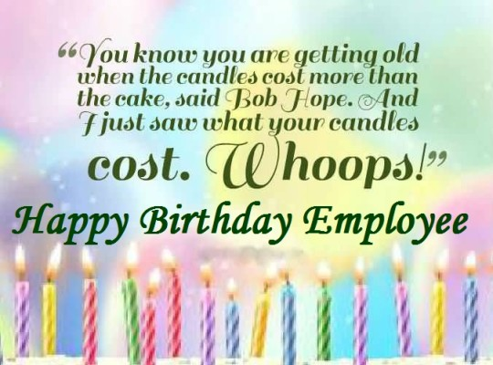 Cute Greetings Birthday Wishes For Employee