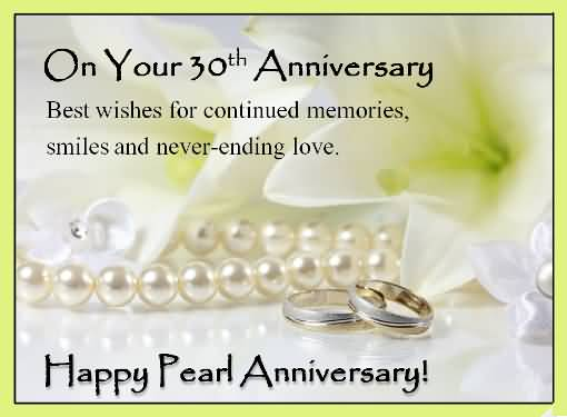 Fabulous Greetings 30th Anniversary Wishes For Couple
