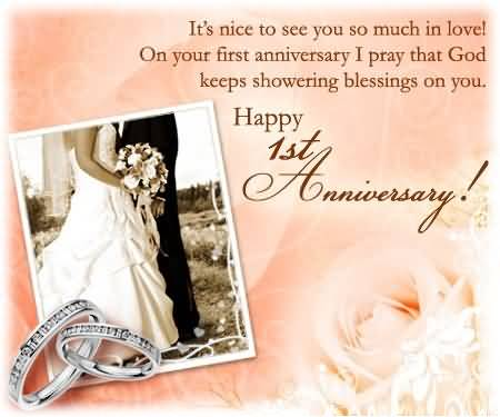 Great e card 1st anniversary wishes for friend nicewishes