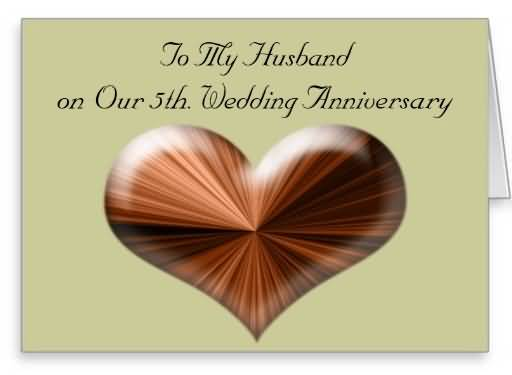 Lovely E-Card 5th Anniversary Wishes For Husband