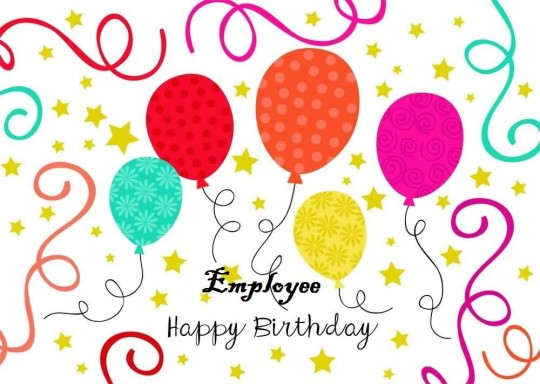 Lovely E-Card Birthday Wishes For Employee