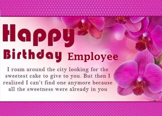 Lovely E Card Birthday Wishes For Employee