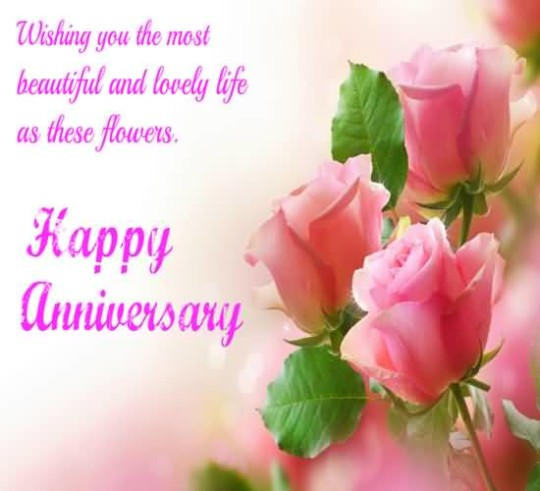 Lovely Greetings Anniversary Wishes For Beautiful Couple