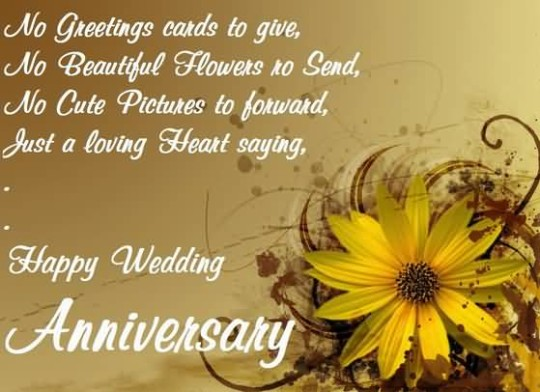 Lovely Greetings Anniversary Wishes For Couple