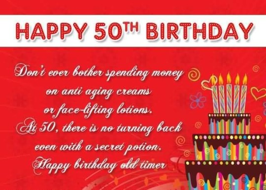 Mind Blowing 50th Birthday Quotes