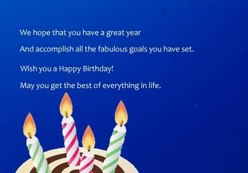 Nice Birthday Wishes For Employer E-Card