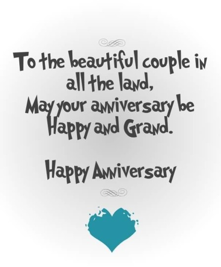 Nice Graphic Anniversary Wishes For Beautiful Couple