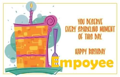 Nice Graphic Birthday Wishes For Employee