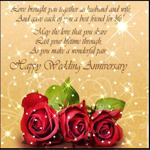 Nice Greetings Anniversary Wishes For Couple