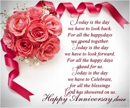Nice Greetings Anniversary Wishes For Dear Wife