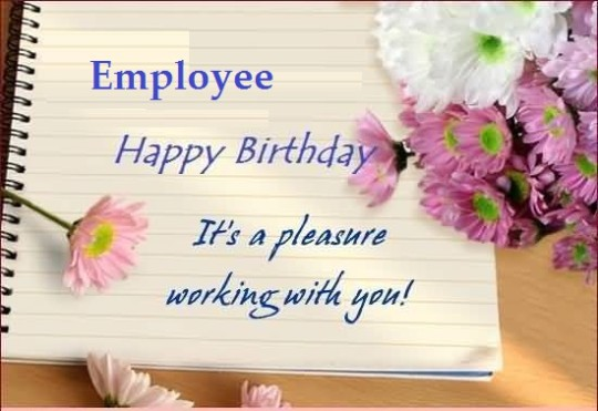 Nice Scrap Birthday Wishes For Employee
