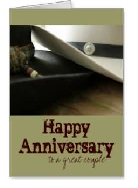 Simple E-Card Anniversary Wishes For Couple