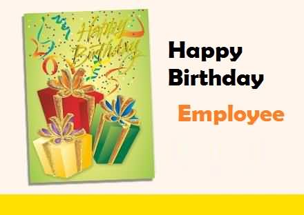 Simple E Card Birthday Wishes For Employee