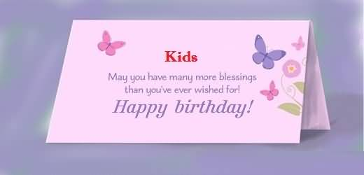 Superb E-Card Birthday Quotes For Kids