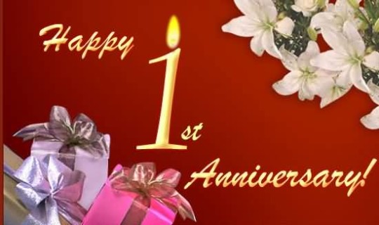 Superb greetings 1st anniversary wishes for couple nicewishes