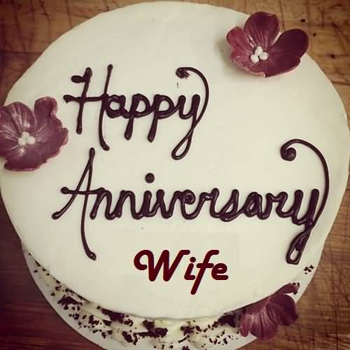 Sweet Cake Anniversary Wishes For Best Wife Greetings