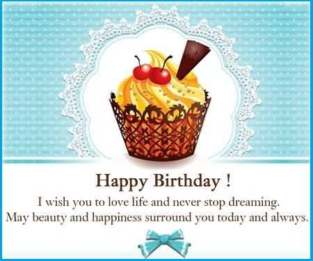 Sweet Cup Cake E-Card Birthday Wishes For Employee