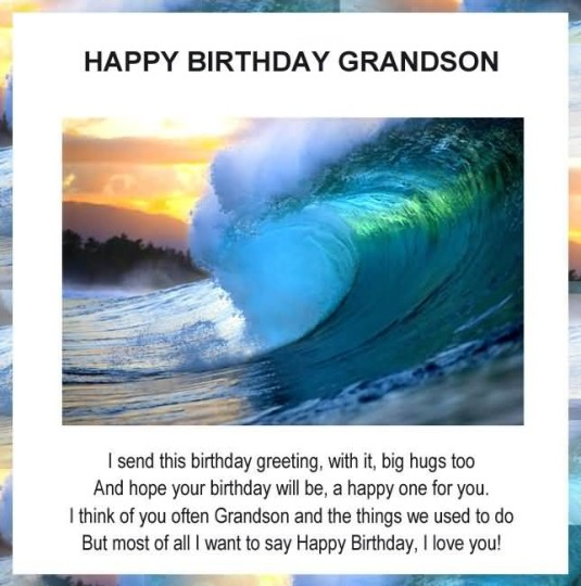 Terrific Birthday Quotes For Grandson Image