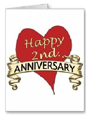 Terrific E-Card 2nd Anniversary Wishes For Wife